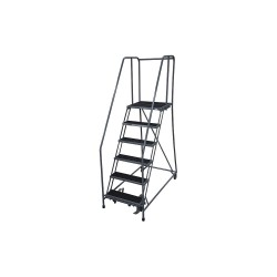 Cotterman - 1006R2630A2E20B4D3C1P6 - 6-Step Rolling Ladder, Antislip Vinyl Step Tread, 90 Overall Height, 450 lb. Load Capacity