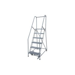 Cotterman - 1006R2630A3E10B4AC1P6 - 6-Step Rolling Ladder, Serrated Step Tread, 90 Overall Height, 450 lb. Load Capacity
