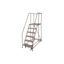 Cotterman - 1006R2630A3E30B4D3C1P6 - 6-Step Rolling Ladder, Serrated Step Tread, 90 Overall Height, 450 lb. Load Capacity