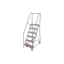Cotterman - 1006R2630A6E10B4AC1P6 - 6-Step Rolling Ladder, Perforated Step Tread, 90 Overall Height, 450 lb. Load Capacity