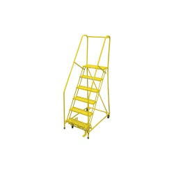 Cotterman - 1006R2630A6E10B4C2P6 - 6-Step Rolling Ladder, Perforated Step Tread, 90 Overall Height, 450 lb. Load Capacity