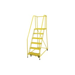 Cotterman - 1006R2630A6E20B4C2P6 - 6-Step Rolling Ladder, Perforated Step Tread, 90 Overall Height, 450 lb. Load Capacity