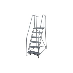 Cotterman - 1006R3232A1E20B4C1P6 - 6-Step Rolling Ladder, Expanded Metal Step Tread, 90 Overall Height, 450 lb. Load Capacity