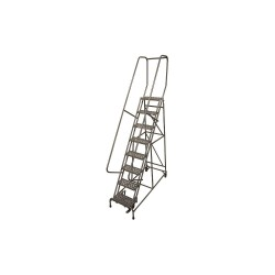 Cotterman - 1008R1824A2E10B4D3C1P6 - 8-Step Rolling Ladder, Antislip Vinyl Step Tread, 110 Overall Height, 450 lb. Load Capacity