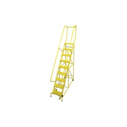 Cotterman - 1009R1824A3E10B4C2P6 - 9-Step Rolling Ladder, Serrated Step Tread, 120 Overall Height, 450 lb. Load Capacity
