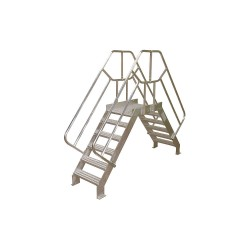 Cotterman - 4SCA24A7C50P3 - Crossover Bridge, Aluminum, 32 Platform Height, 24 Span, Number of Steps 4