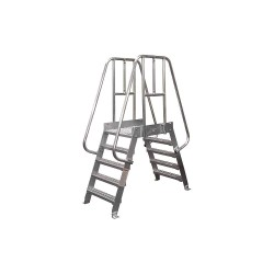 Cotterman - 4SPA24A3C50P3 - Crossover Ladder, Aluminum, 32 Platform Height, 24 Span, Number of Steps 4