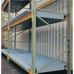 Denios - K38-1160 - 96 x 42 Pallet Rack Sump Insert with 6900 lb. Load Capacity, Blue