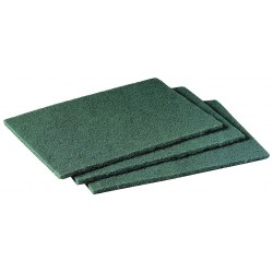 Scotch-Brite - 96CC - 6 x 9 Synthetic Fiber Scouring Pad, Green, 10PK