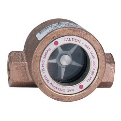 Dwyer Instruments - SFI-100-2 - Bronze Window Sight Flow Indicator with Impeller, 2 Pipe Size, FNPT Connection Type