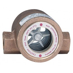 Dwyer Instruments - SFI-300-1-1/4 - Bronze Window Sight Flow Indicator with Impeller, 1-1/4 Pipe Size, FNPT Connection Type