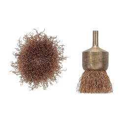 "Ampco Safety Tools - EB-1C - 3"" Crimped Wire End Brush with Carbon Steel Fill Material and 0.014"" Wire Dia."