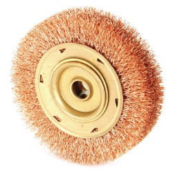 "Ampco Safety Tools - WB-45A - Arbor Hole Wire Wheel Brush, Crimped Wire, 3/4"" Brush Dia."