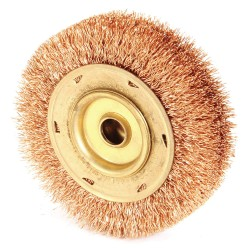 "Ampco Safety Tools - WB-45 - Arbor Hole Wire Wheel Brush, Crimped Wire, 3/4"" Brush Dia."
