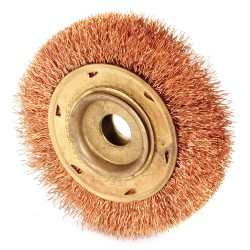 "Ampco Safety Tools - WB-45B - Arbor Hole Wire Wheel Brush, Crimped Wire, 4"" Brush Dia."