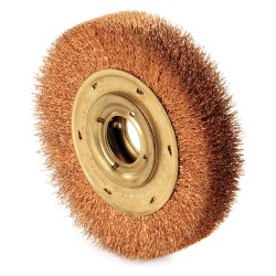 "Ampco Safety Tools - WB-44D - Arbor Hole Wire Wheel Brush, Crimped Wire, 6"" Brush Dia."