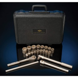 "Ampco Safety Tools - W-160 - 1/4""Drive SAE Beryllium Copper Alloy Nonsparking Socket Wrench Set, Number of Pieces: 12"