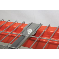 Worldwide Material Handling - 3046F-3-2504-4.6 - 46 x 30 Wire Mesh Decking with 3000 lb. Load Capacity, Gray Powder Coated