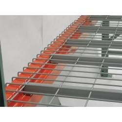 Worldwide Material Handling - 4246S-4-4.6-I - 46 x 42 Wire Mesh Decking with 3500 lb. Load Capacity, Gray Powder Coated