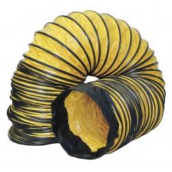 Schaefer Ventilation - GAM-DS0815 - 15 ft. Ventilation Duct with 8 Dia., Black/Yellow; Use With Mfr. No. VAF1500A, VAF1500B