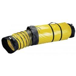 Schaefer Ventilation - GAM-DS0825CB - 25 ft. Ventilation Duct with 8 Dia., Black/Yellow; Use With Mfr. No. VAF1500A, VAF1500B