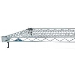 Metro (InterMetro) / Emerson - A1442NC - 42 x 14 Steel Wire Shelf with 800 lb. Capacity, Silver