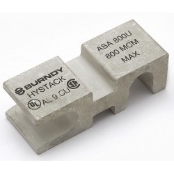 Burndy - ASA1000U - Mechanical Connector, Tin-Plated Aluminum, Max. Conductor Size: 1000 kcmil Stranded