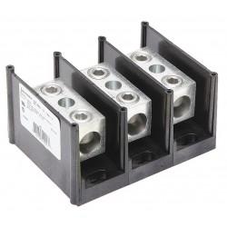 Burndy - BDB113503 - Burndy BDB113503 Power Distribution Block, 3 Pole, 6 AWG to 350 MCM, 310 Amp