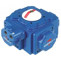 Habonim - C20-DA - 5-11/64 x 5-11/64 x 3-31/32 Aluminum Compact Pneumatic Actuator, 0.13 sec. Cycle Time