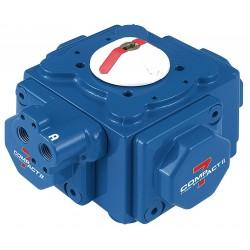 Habonim - C60-DA - 14-11/64 x 14-11/64 x 9-49/64 Aluminum Compact Pneumatic Actuator, 1.50 sec. Cycle Time