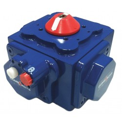 Habonim - C25-SR-2C-NP - 6-11/32 x 6-11/32 x 4-39/64 Nickel Plated Compact Pneumatic Actuator, Open 0.23 sec., Close 0.23