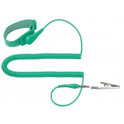 Eclipse Enterprises - 900-132 - ESD Wrist Strap, Adjustable, 10 ft L, Green