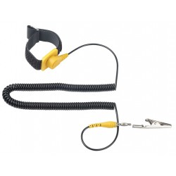 Eclipse Enterprises - 900-023 - ESD Wrist Strap, Adj, 6 ft L, Yellow/Black