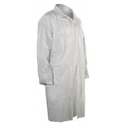 Cellucap / Melco - 3302EWSL - White Polypropylene Disposable Lab Coat, Size: L