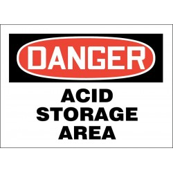 Accuform Signs - 219057-7X10S - Chemical, Gas or Hazardous Materials, Danger, Vinyl, 7 x 10, Adhesive Surface, Not Retroreflective