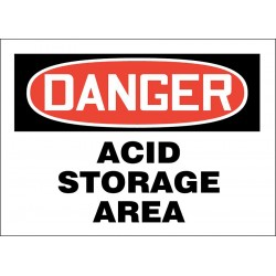Accuform Signs - 219057-10X14S - Chemical, Gas or Hazardous Materials, Danger, Vinyl, 10 x 14, Adhesive Surface