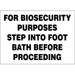 Accuform Signs - 219063-7X10S - Biohazard, No Header, Vinyl, 7 x 10, Not Retroreflective