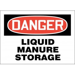 Accuform Signs - 219065-10X14S - Chemical, Gas or Hazardous Materials, Danger, Vinyl, 10 x 14, Adhesive Surface
