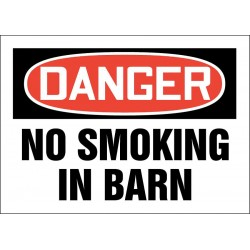 Accuform Signs - 219066-10X14S - No Smoking, Danger, Vinyl, 10 x 14, Adhesive Surface, Not Retroreflective