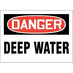 Accuform Signs - 219074-10X14S - Facility, Danger, Vinyl, 10 x 14, Adhesive Surface, Not Retroreflective