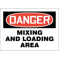 Accuform Signs - 219081-7X10P - Loading and Unloading, Danger, Plastic, 7 x 10, With Mounting Holes, Not Retroreflective
