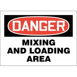 Accuform Signs - 219081-10X14S - Loading and Unloading, Danger, Vinyl, 10 x 14, Adhesive Surface, Not Retroreflective