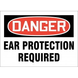 Accuform Signs - 219085-10X14S - Personal Protection, Danger, Vinyl, 10 x 14, Adhesive Surface, Not Retroreflective