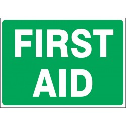 Accuform Signs - 219088-10X14A - First Aid, No Header, Aluminum, 10 x 14, With Mounting Holes, Not Retroreflective