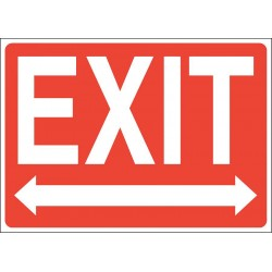Accuform Signs - 219097-7X10A - Exit and Entrance, No Header, Aluminum, 7 x 10, With Mounting Holes, Not Retroreflective