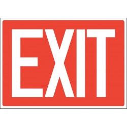 Accuform Signs - 219098-7X10A - Exit and Entrance, No Header, Aluminum, 7 x 10, With Mounting Holes, Not Retroreflective