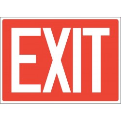 Accuform Signs - 219098-10X14A - Exit and Entrance, No Header, Aluminum, 10 x 14, With Mounting Holes, Not Retroreflective