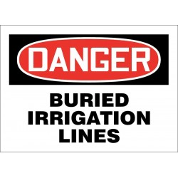 Accuform Signs - 219113-7X10P - Facility, Danger, Plastic, 7 x 10, With Mounting Holes, Not Retroreflective