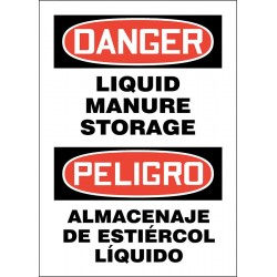 Accuform Signs - 219141-14X10S - Chemical, Gas or Hazardous Materials, Danger/Peligro, Vinyl, 14 x 10, Adhesive Surface