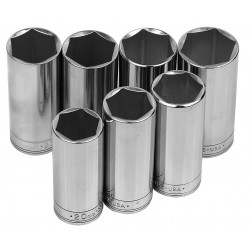 SK Hand Tool - 1862 - 3/8Drive Metric Chrome Socket Set, Number of Pieces: 7